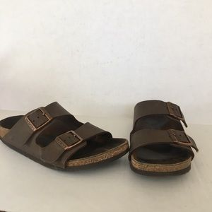 Birkenstock brown 2 buckle strap sandal. S 36/US 6